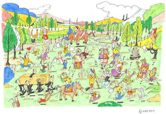 Environment & Life Cartoon